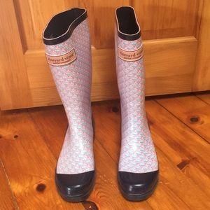 Vineyard Vines whale Rain boots rainboots size 10